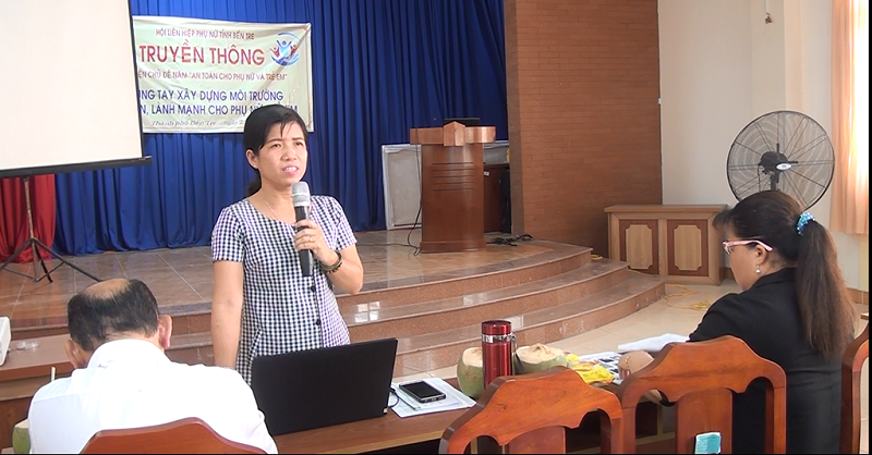 Thành phố Bến Tre: Hội LHPN truyền thông thực hiện chủ đề năm an toàn cho phụ nữ và trẻ em