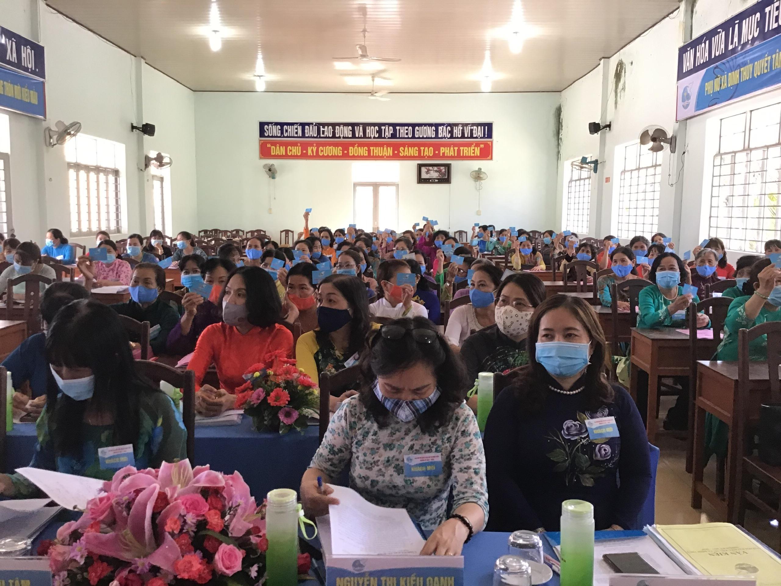 Đại hội Đại biểu Phụ nữ xã điểm Định Thủy huyện Mỏ Cày Nam thành công tốt đẹp