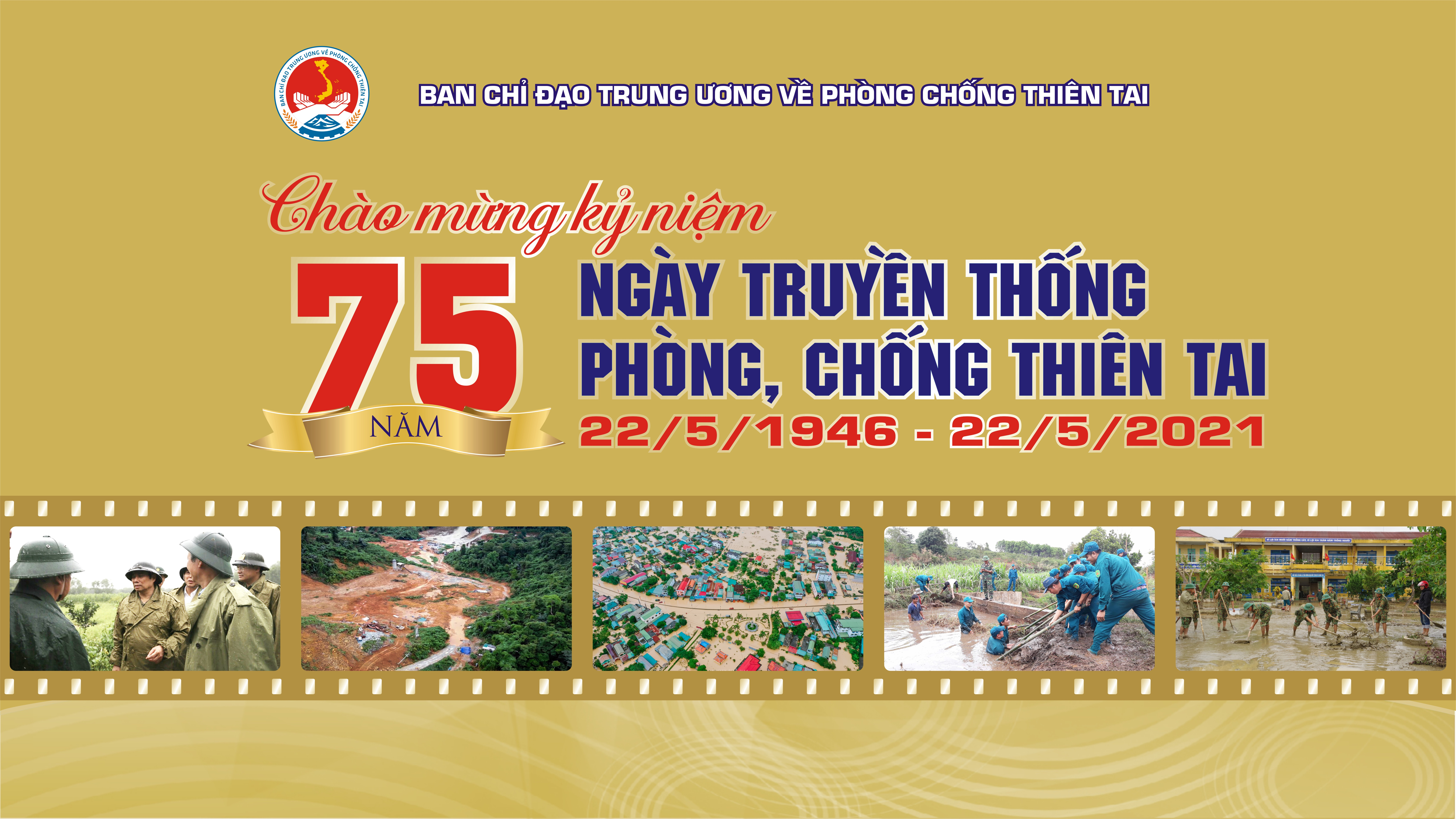 Tài liệu truyền thông phục vụ các hoạt động hưởng ứng Tuần lễ Quốc gia PCTT năm 2021 và kỷ niệm 75 năm Ngày truyền thống phòng chống thiên tai Việt Nam