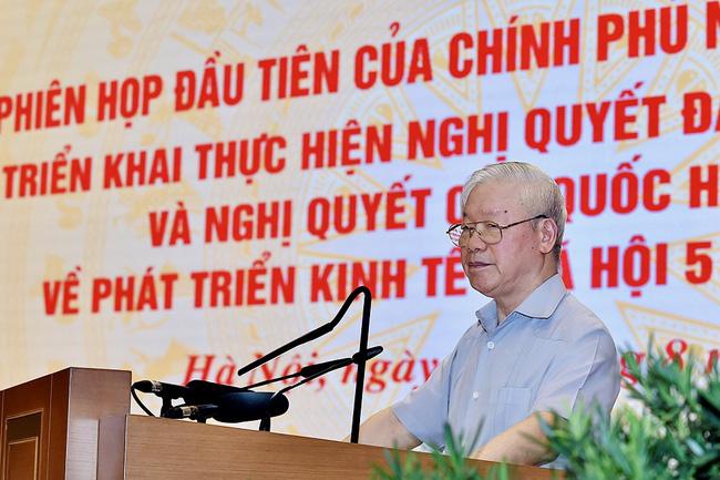 Toàn văn phát biểu của Tổng Bí thư Nguyễn Phú Trọng tại Phiên họp đầu tiên của Chính phủ nhiệm kỳ 2021 - 2026