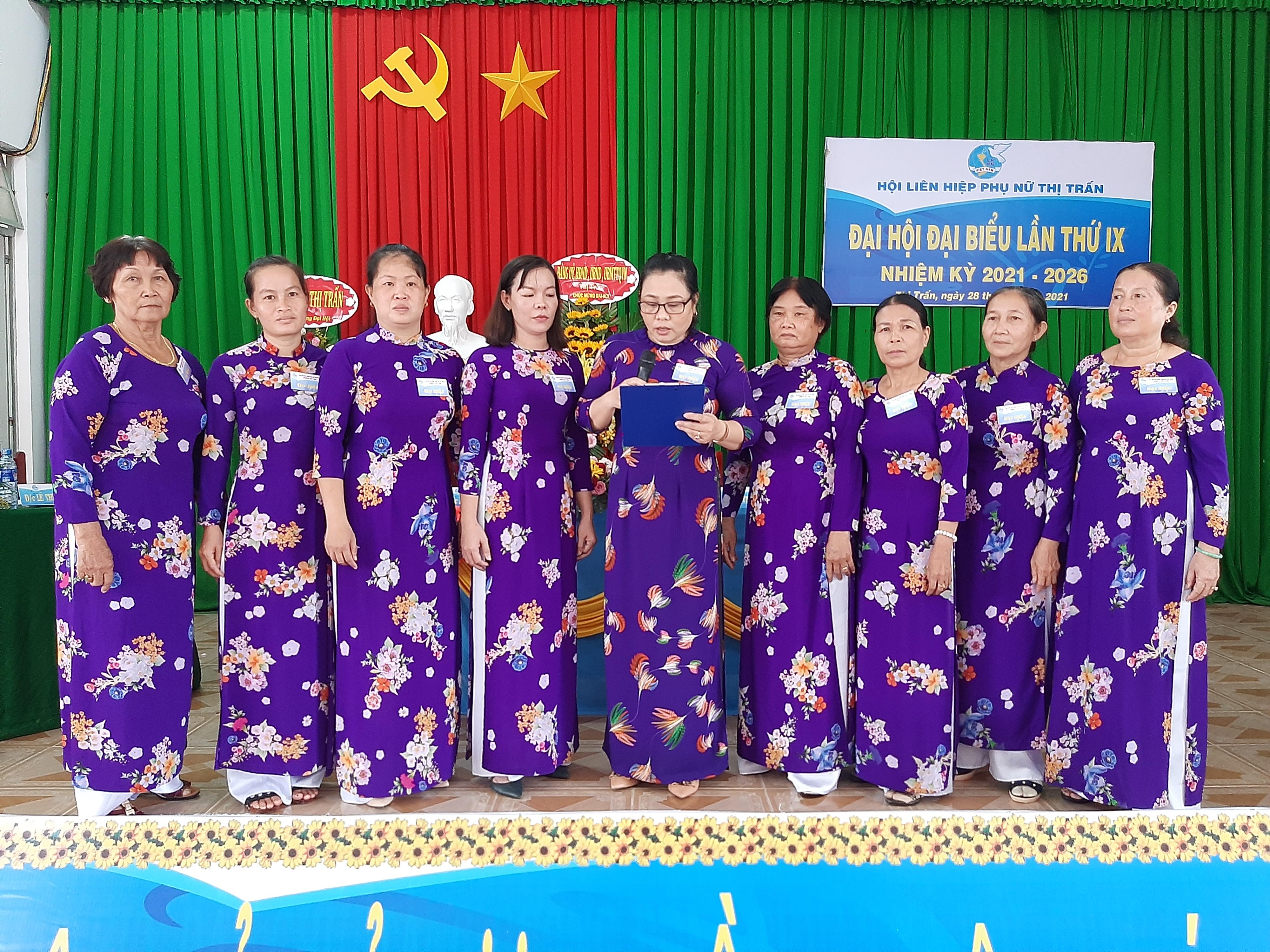 Hội Liên hiệp Phụ nữ xã thị trấn Thạnh Phú tổ chức Đại hội lần thứ IX, nhiệm kỳ 2021 – 2026
