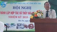 Hội nghị thành lập Hợp tác xã Thủy Hải Sản Bến Tre Nhiệm kỳ 2018-2023