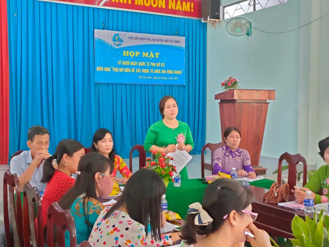 Diễn đàn Phụ nữ hiến kế xây dựng tổ chức Hội vững mạnh