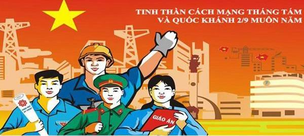 Tuyên truyền kỷ niệm 75 năm ngày Cách mạng tháng Tám thành công (19/8/1945-19/8/2020) và Quốc khánh nước CHXHCN Việt Nam (02/9/1945-02/9/2020)