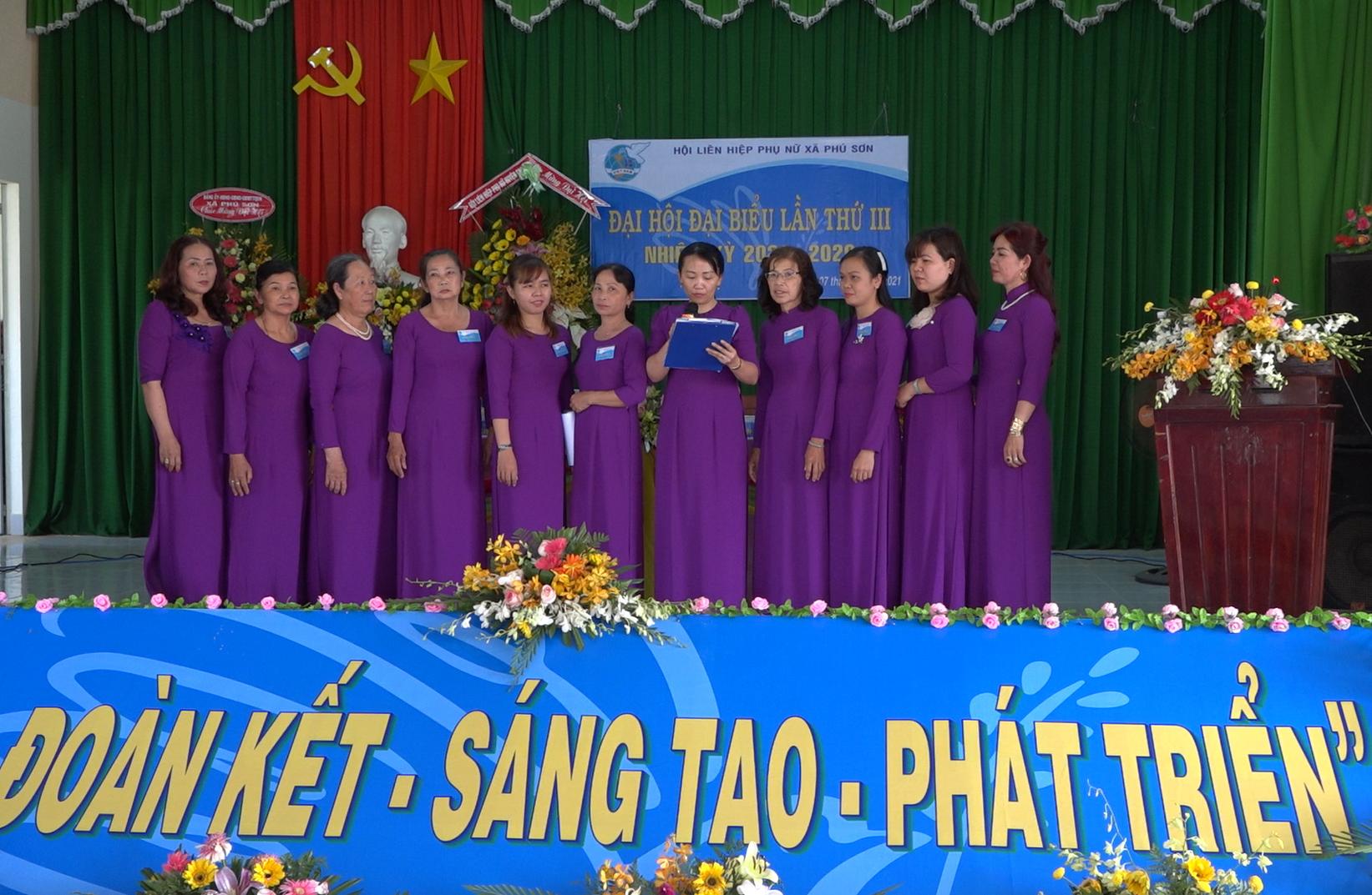 Hội Liên hiệp Phụ nữ xã Phú Sơn và Thị trấn, huyện Chợ Lách tổ chức đại hội đại biểu phụ nữ, nhiệm kỳ 2021- 2026