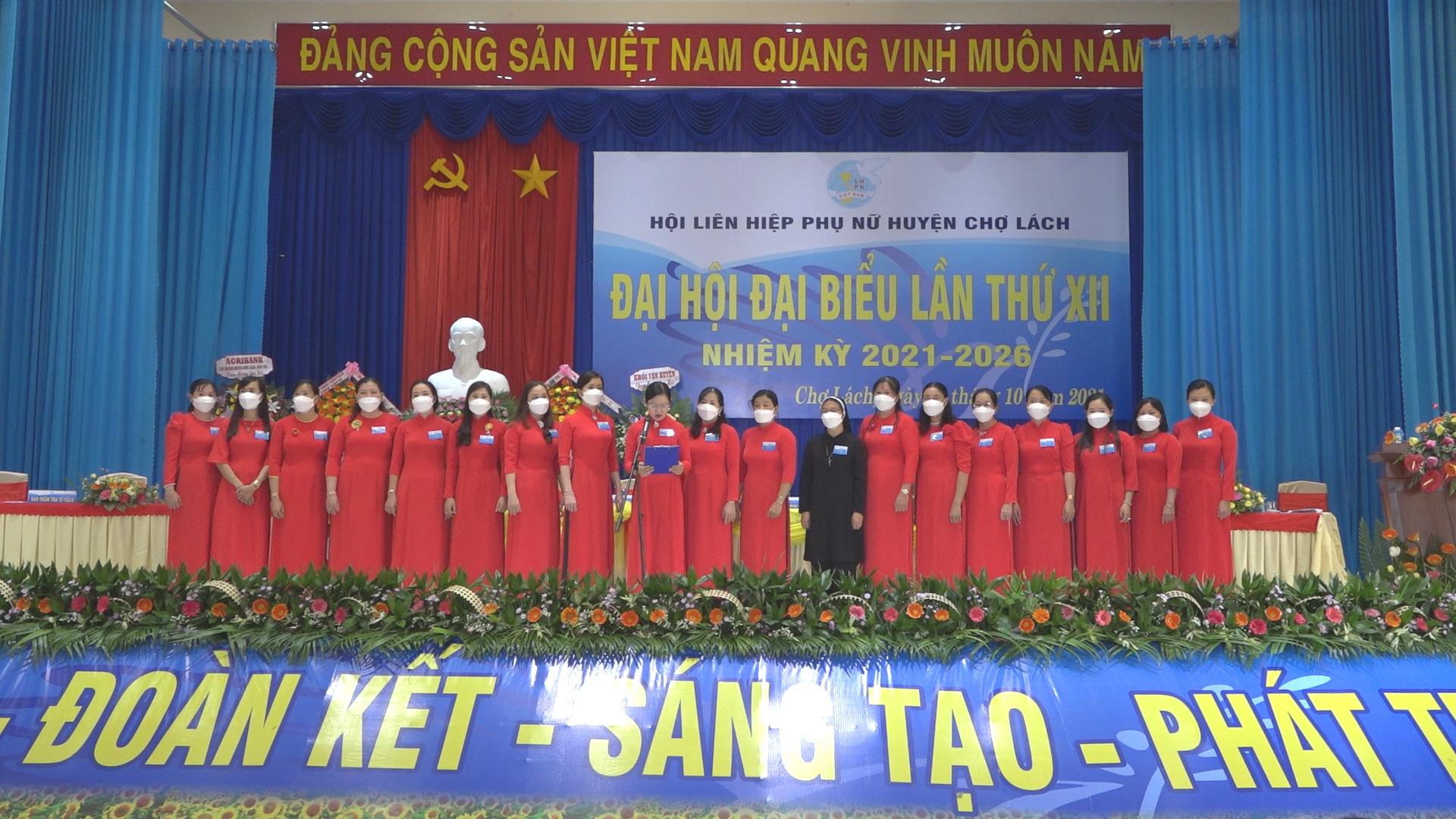 Đại hội đại biểu Phụ nữ huyện Chợ Lách khóa XII, nhiệm kỳ 2021 - 2026